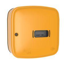 Skrzynka gazowa 600x600x250 wolnostojąca z tworzywa, żółta WEBA