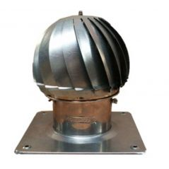 Nasada Turbomax 1 SREBRNY Ø 140mm z podstawą rurową ocynk