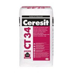 CERESIT CT 34 gładki tynk mineralny do systemów ociepleń, biały 25 kg