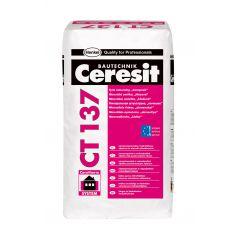 """Tynk mineralny Ceresit CT137, struktura """"kamyczkowa""""1,5mm, do malowania 25kg"""