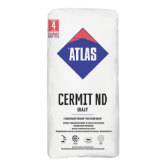 Tynk mineralny Atlas Cermit ND, biały, baranek, 25kg