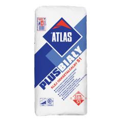 Biały elastyczny klej do płytek ATLAS PLUS BIAŁY, 25 kg