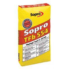 SOPRO fuga szeroka 3-30 mm – wysokowytrzymała, TFb - kolor szary, 25kg