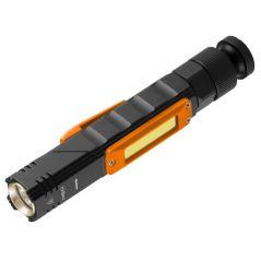 LATARKA AKUMULATORAWA USB 300 LM 2 W 1 CREE XPE + COB LED