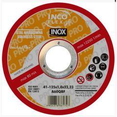 TARCZA PŁASKA INOX T1A 125*1.6*22