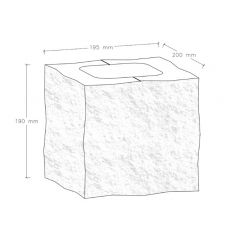 CJBLOK Pustak betonowy elewacyjny PBE-19-4 N1/2 czterostronnie łupany, 2 image
