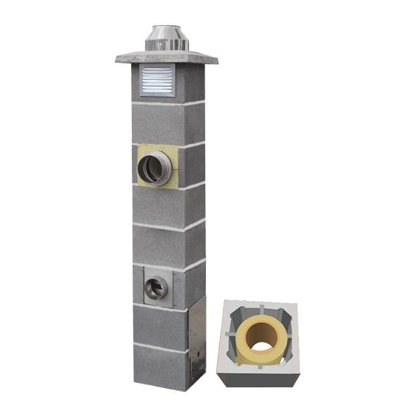 System Kominowy Ceramiczny  JAWAR Nord Ø 180mm rura izostatyczna