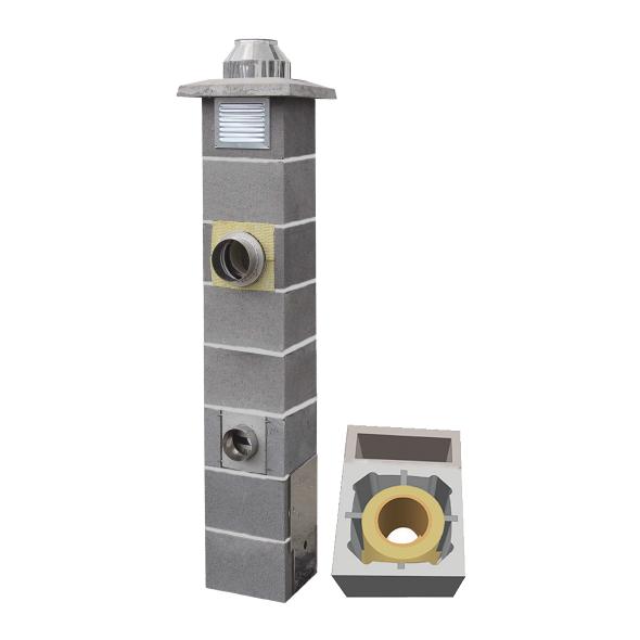 System Kominowy Ceramiczny  JAWAR Nord Ø 160mm z wentylacją rura izostatyczna