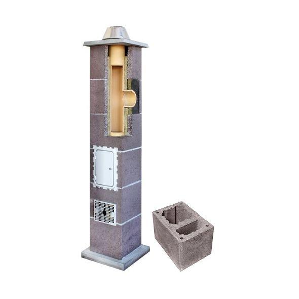 System Kominowy Ceramiczny LEIER Izolowany Ø 180mm z wentylacją