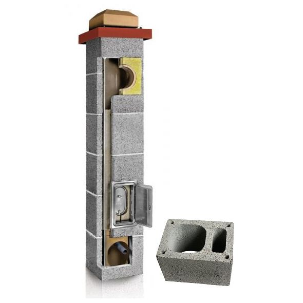 System Kominowy Ceramiczny PLEWA Uni Fu 140x140mm z wentylacją