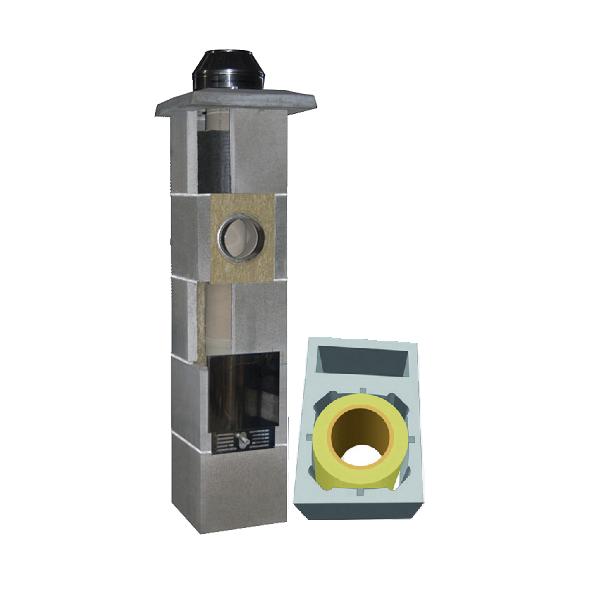 System Kominowy Ceramiczny  JAWAR Uniwersal Plus Ø 200mm z wentylacją rura izostatyczna