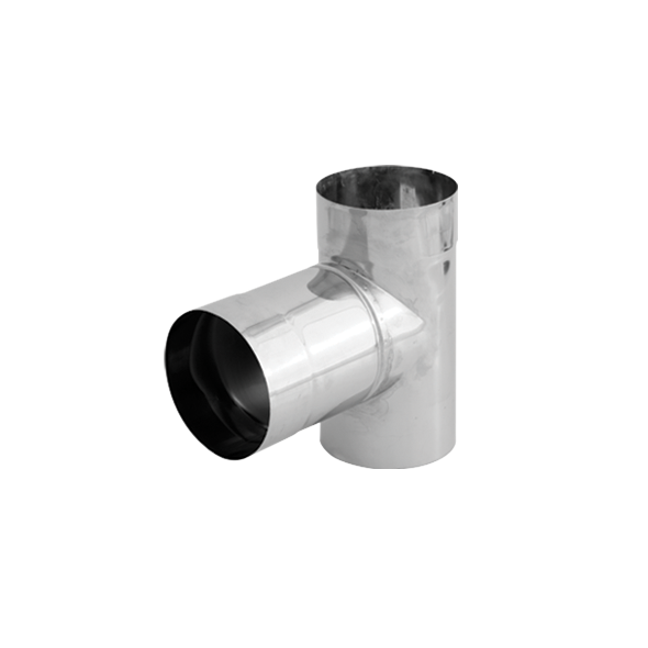 Trójnik 90° nierdzewny SPIROFLEX Ø  80mm