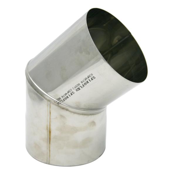 Kolano stałe 45° żaroodporne SPIROFLEX Ø 180mm gr.1,0mm