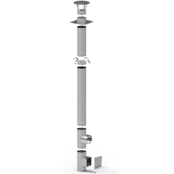 Wkład kominowy żaroodporny KOMINUS KZS Ø 160mm gr.0,8mm