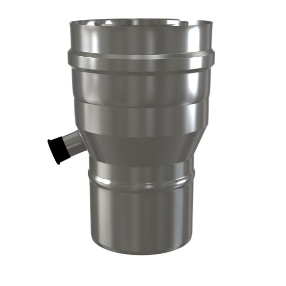 Redukcja z odskraplaczem dwuścienna MKPS Invest MK ŻARY  Ø 80/125 na 100/150mm