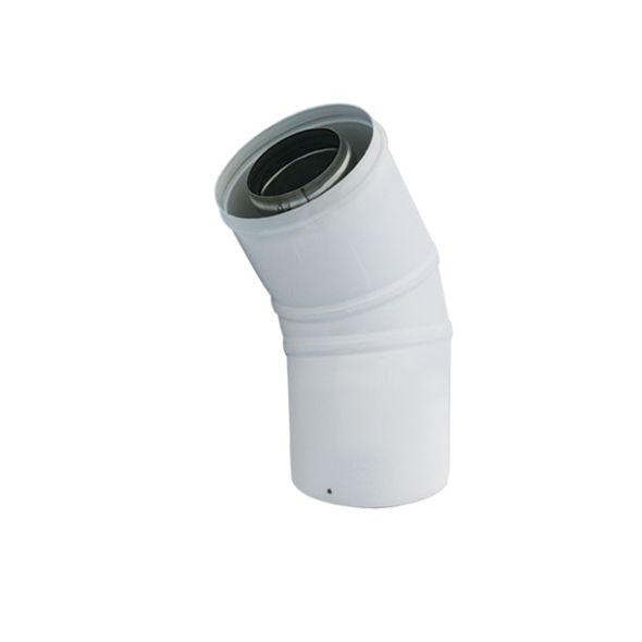 Kolano 45° białe dwuścienne Turbo SPIROFLEX Ø  60/100mm